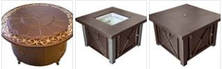Fire tables and pits on sale